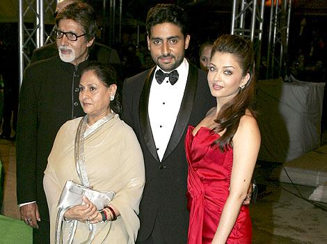 Abhishek Bachchan With His Family