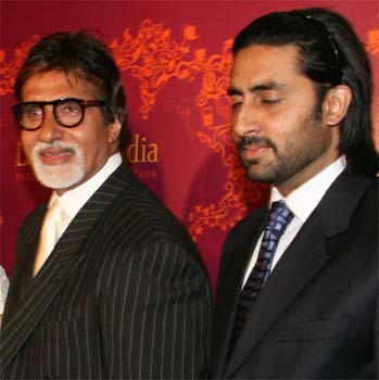 Abhishek Bachchan With His Father