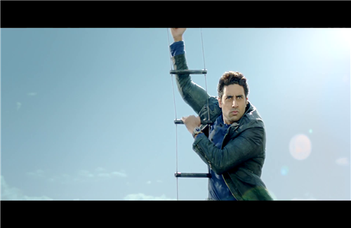 Abhishek Bachchan in Helicopter Movie Dhoom 3