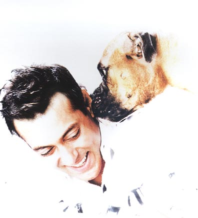 Salman With His Dog