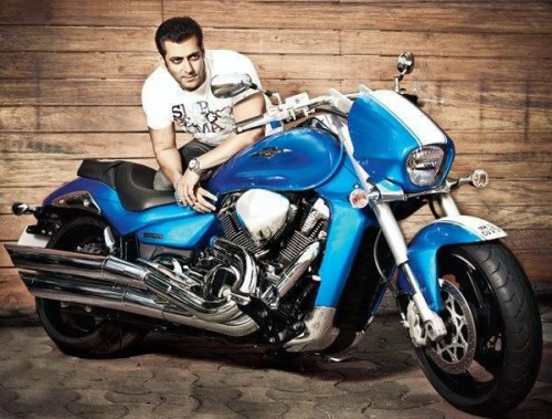 Salman With Wonderful Bike