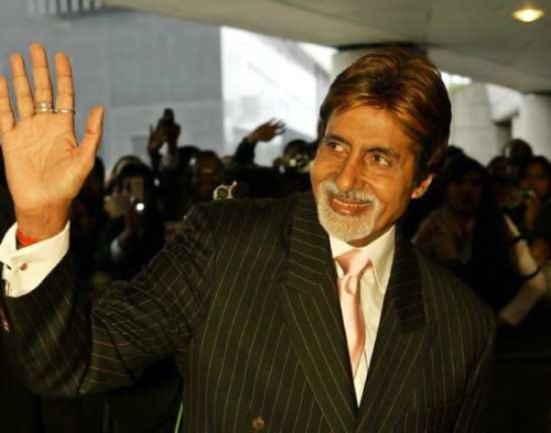 Amitabh Bachan Waiving Hands to Fans