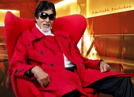 Amitabh Bachchan Wearing Red Coat