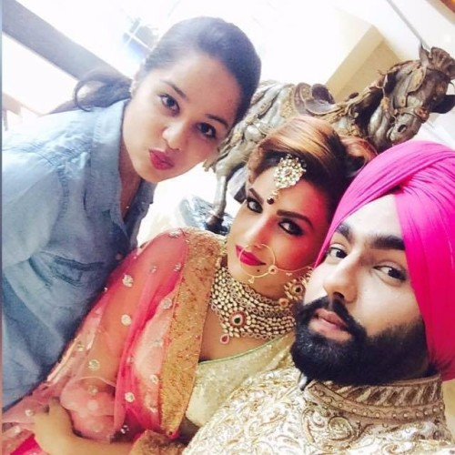 Ammy Virk With Model