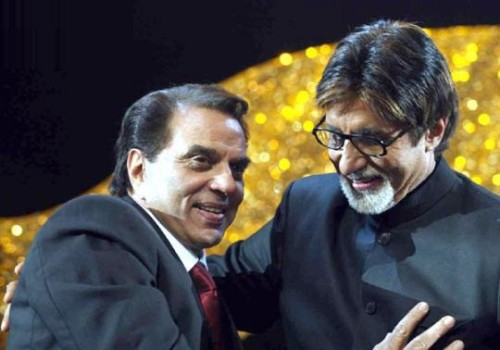 Big B With Dharmendra