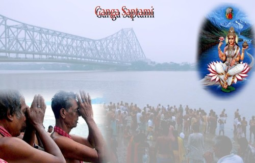 Ganga Saptami Celebration By People