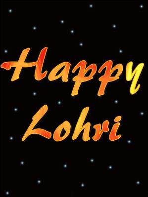 Happy Lohri Greeting Ecard For Share On Facebook