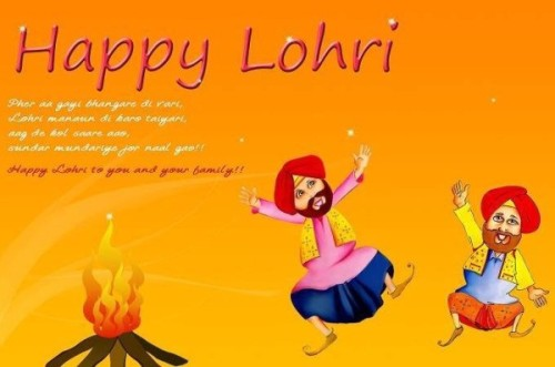 Happy Lohri To You And Your Family Greeting Card