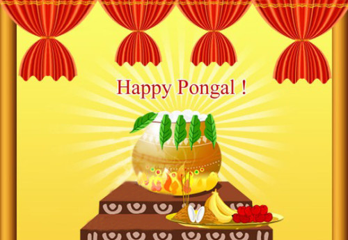 Happy Pongal Ecard For Share On Facebook