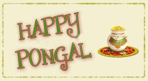 Happy Pongal Greeting Card For You Graphic For Share On Facebook