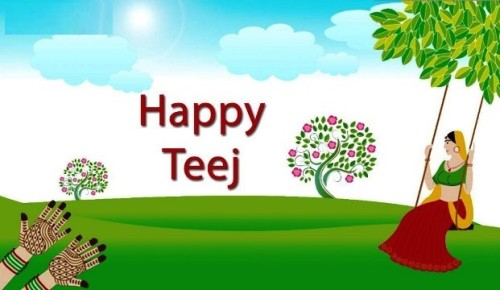 Happy Teej Graphic