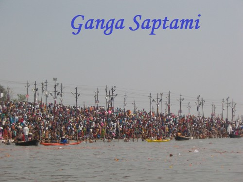 Huge Crowd On Ganga Saptami
