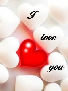 I LOve You With Red And White Heart
