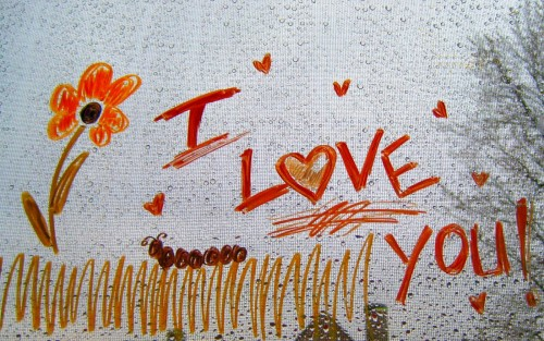 I Love You Drawing