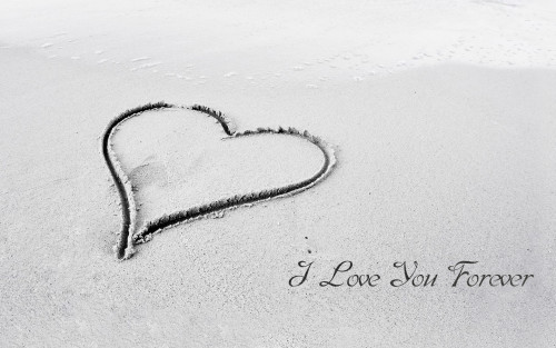 I Love You Forever On Sand
