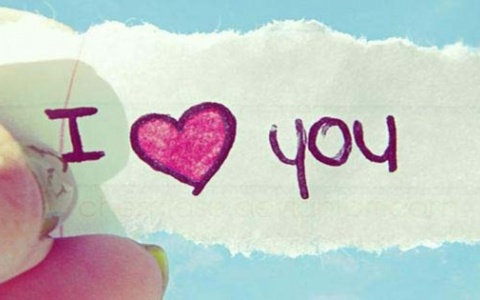 I Love You With Pink Heart