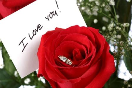 I Love You With Rose And Ring