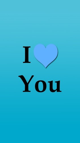 I Love You With Sky Blue Background
