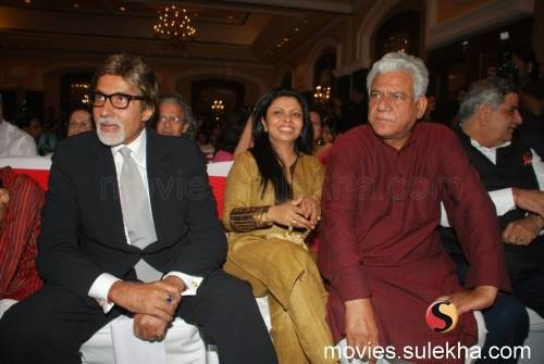 Om Puri With Amitabh Bachan In a award Function