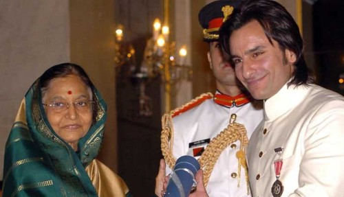 Saif Ali Khan Being Honored By Indian President