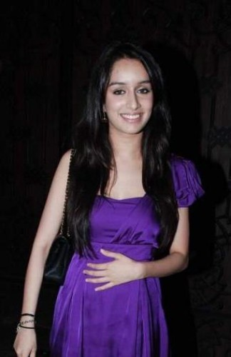 Shraddha Kapoor In Purple Dress