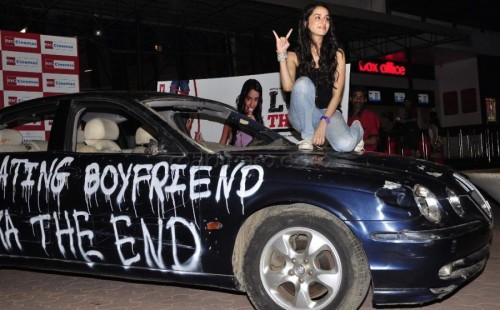 Shraddha Kapoor On Car