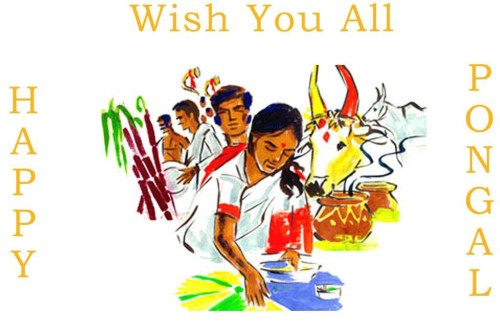 Wish You All Happy Pongal Painting Graphic