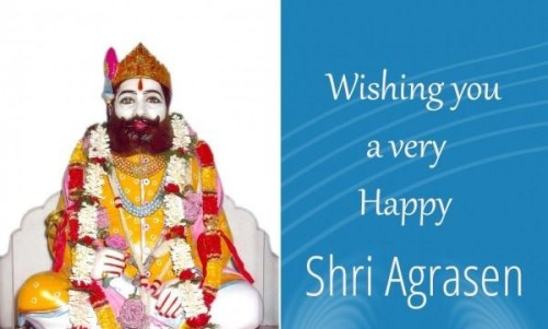 Wishing You A Very Happy Shri Agrasen Jayanti