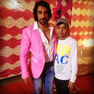 Ashok Masti Posing With Fan