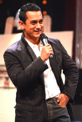 Aamir Khan At The Stage