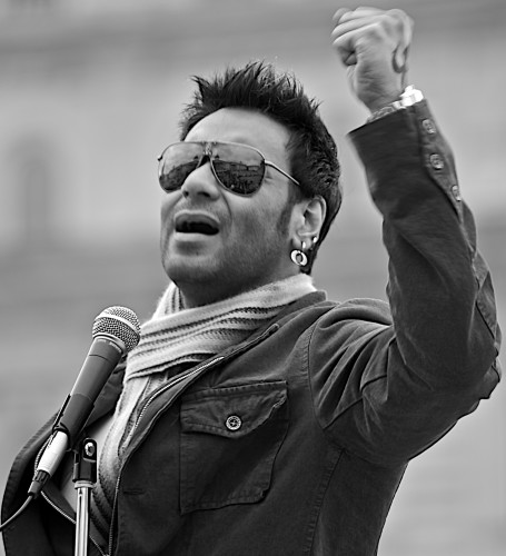 Ajay Devgn  Black White Shade Photo