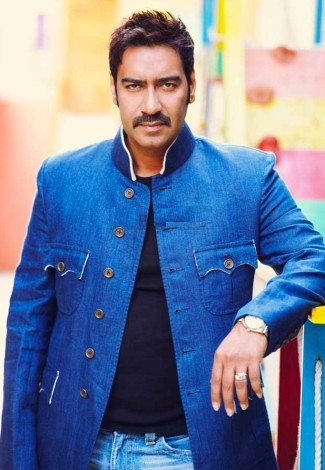 Ajay Devgn  In Blue Jacket