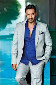 Ajay Devgn  White And White And Blue Coat