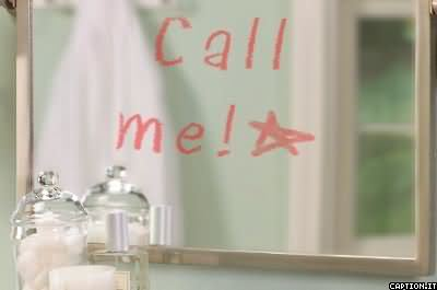 Call Me On Mirror Graphic