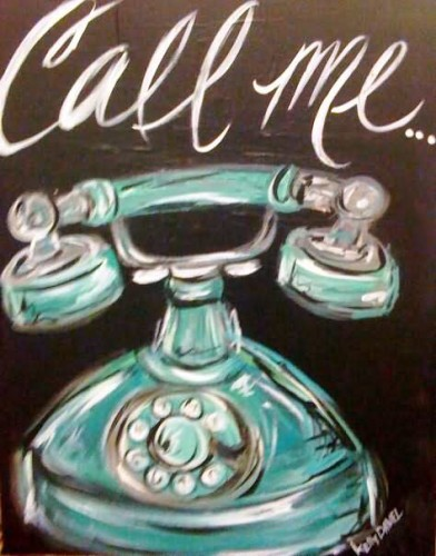 Call Me Painting Graphic