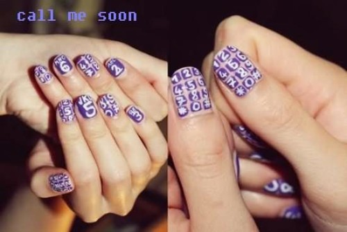 Call Me Soon Nail Polish Graphic