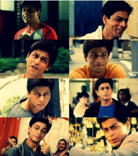 Different Expression OF Shahrukh Khan