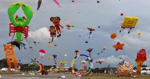 Different Kites In Sky