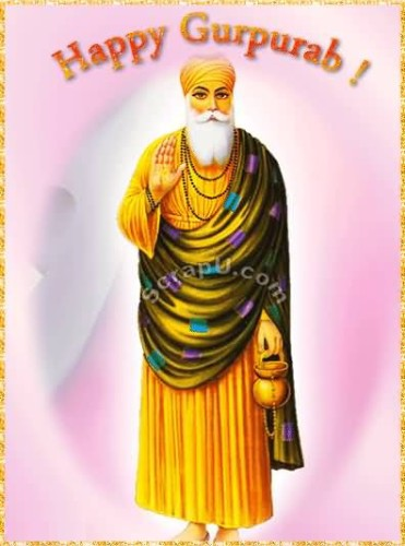 Happy Gurpurab Glitter Graphic