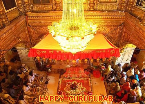Happy Gurpurab Inner View Golden Temple
