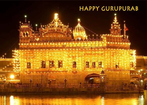 Happy Gurpurab Lighting At Golden Temple