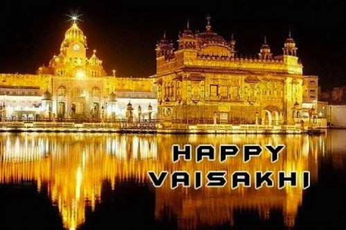 Happy Vaisakhi With Harimandir Sahib