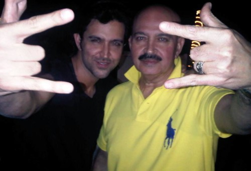 Hrithik Roshan Say Hello With His father
