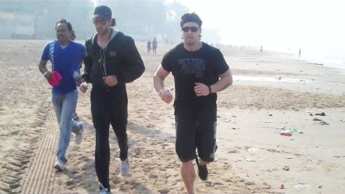 Hrithik Roshan With His Trainer Kris Genith