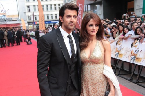Hrithik Roshan With His Wife