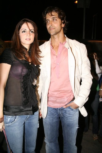 Hrithik With His Wife Suzanne