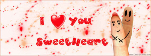 I Love You Sweetheart Facebook Cover