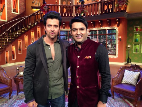 Kapil Sharma with Hrithik Roshan