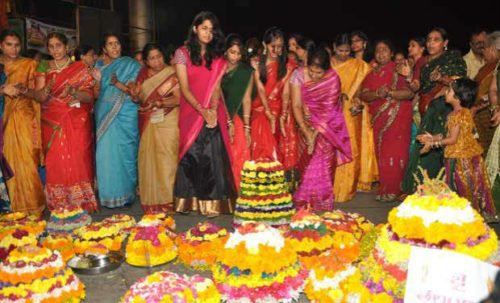 Ladies Celebrate Bathukamma