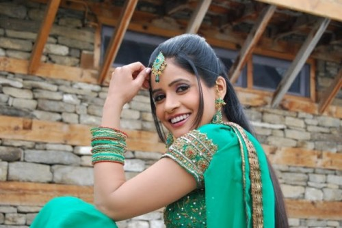 Miss Pooja In Green Suit